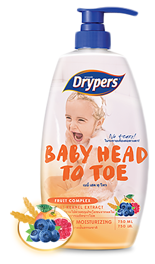 Drypers Baby Head to Toe with Fruit Complex and Oat Kernel Extract