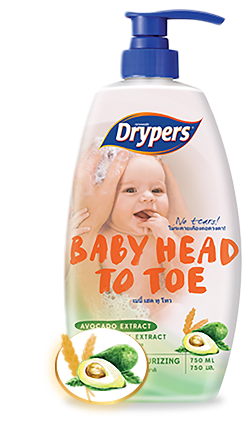 Drypers Baby Head to Toe with Avocado Extract and Oat Kernel Extract